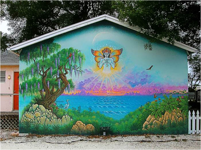 Keith Stillwagon Mural - Namaste, at The Longhouse in Gulfport, Florida