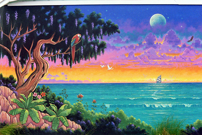 "Because I live in Florida, as do most of the people who commission me, I have come to specialize in what I call ""Tropical Florida Visionary Art""."